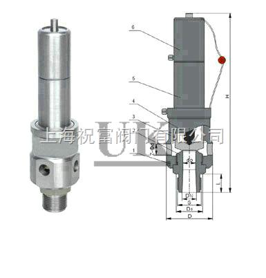 进口空压机安全阀,参数,图片,尺寸,结构图,规格,型号